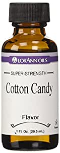 LorAnn Artificial Flavoring Oils, Cotton Candy Flavoring Oil, 1-Ounce Bottles (Pack of 4)