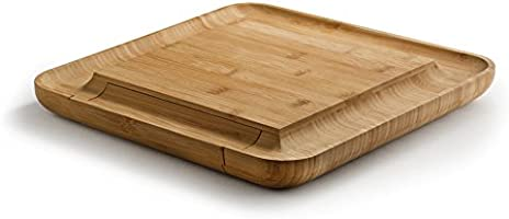Bambusi Natural Bamboo Cheese Board Set Wooden Charcuterie Meat Platter And Serving Tray With Cutlery Set Perfect For Birthday Housewarming
