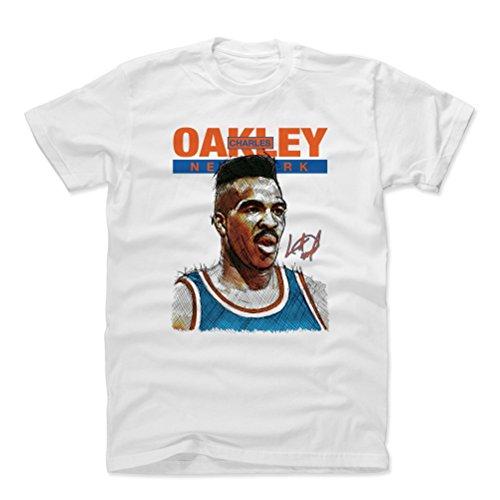 500 LEVEL Charles Oakley Cotton Shirt (X-Large, White) - New York Knicks Men