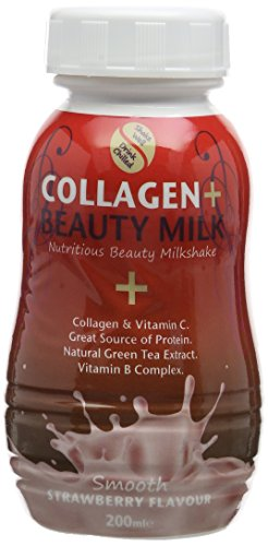 The Protein Drinks 200ml Strawberry Collagen and Beauty Milk Anti-Ageing...