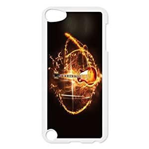 For Ipod Touch 5 Guitar and Music Pattern Protective Back Case-Style-17