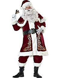 Adult Santa Claus Christmas Suit Costume Set for Party Cosplay