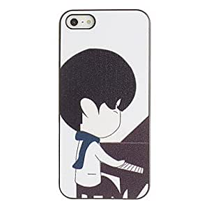 xiao Clever little boys to play the piano model PC hard case for the iPhone 5/5 s black box