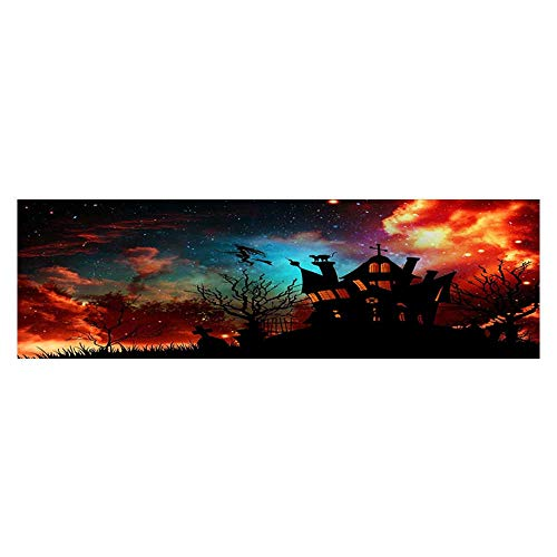 Leighhome Fish Tank Background Halloween Poster Background PVC Adhesive Decor Paper Sticker L29.5 x H11.8 -