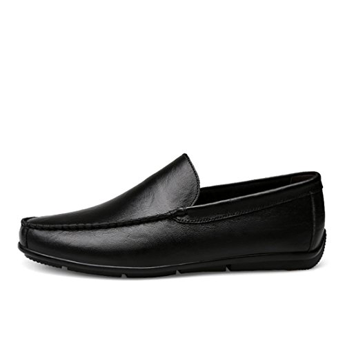 Minitoo Boys Mens Simple Comfort Liferstyle Casual Loafers Black