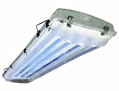 Howard Lighting VHA1A654APSMV000000I 6 Lamp Vapor Proof Fluorescent High Bay Impact Resistance Acrylic Lens