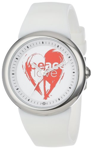 PeaceLove Unisex F36S-PL-W ''Sparr'' Art Dial Stainless Steel Watch by Love & Peace