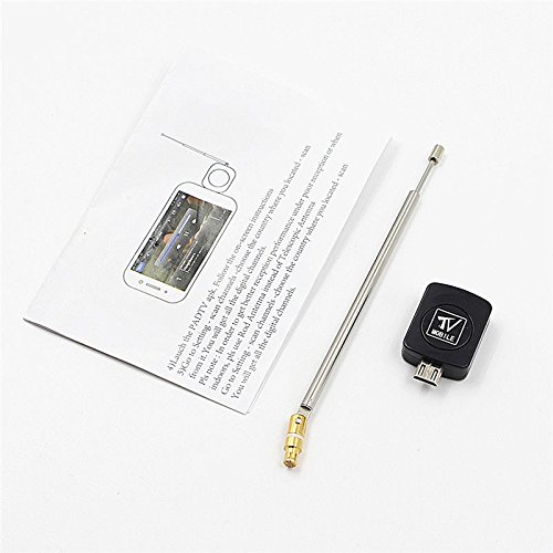 JiaUfmi Mini Micro USB DVB-T TV Tuner Receiver Stick for at Least Android 4.0 Digital Satellite Dongle Receiver for Smart Phone