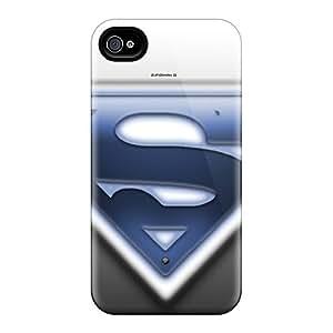SherriFakhry Iphone 4/4s Shock Absorption Hard Cell-phone Case Customized Lifelike Superman Pattern [ygg14673dLae]