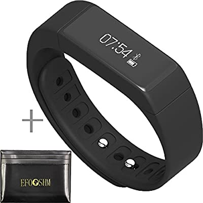 EFOSHM Fitness Tracker Wireless Smartband Activity Sleep Monitor Pedometer Smart Watch Blueooth Wristband Wireless Bracelet for IOS iphone Android Sumsung HTC