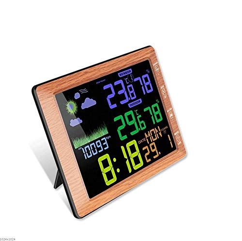 RTYUU Indoor and Outdoor Wireless Color Screen Temperature and Hygrometer Clock