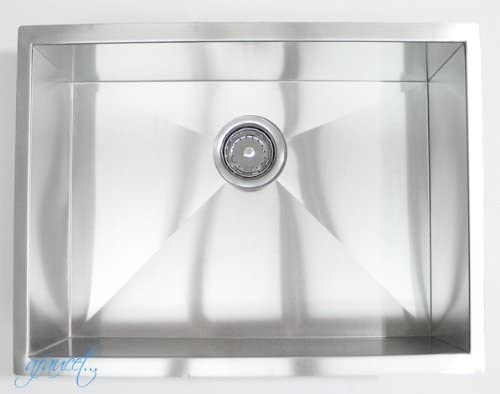 Houzer MG-3209SR-1 Medallion Designer Series Undermount Stainless Steel 70 30 Double Bowl Kitchen Sink, Small Bowl Right