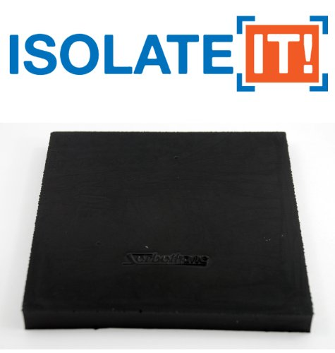Isolate-It-Sorbothane-Vibration-Isolation-Square-Pad-50-Duro-50-Thick-5-x-5-2-Pack