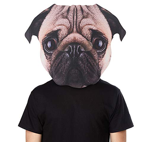 Easiest Costumes For Men (SEASONS LTD Oversized Pug Dog Mask, Halloween Costume Accessory for Adults, One)
