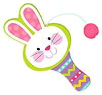 "Egg-stra Special Easter Bunny-Shaped Paddle Ball Party Favour, Wood, 4"" x 8"""