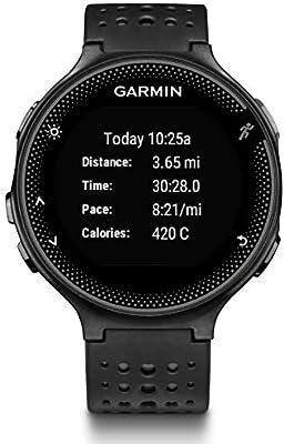 Garmin Forerunner 235 - Reloj con pulsómetro en la muñeca, unisex, color negro y gris, talla única: Amazon.es: Deportes y aire libre