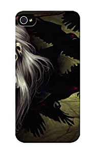 Awesome LlBavP-2826-zoZTw Suffraganemay Defender Tpu Hard Case Cover For Iphone 5/5s- Dark Horror Fantasy Art Gothic Demon Girl Vampires Ravens Birds