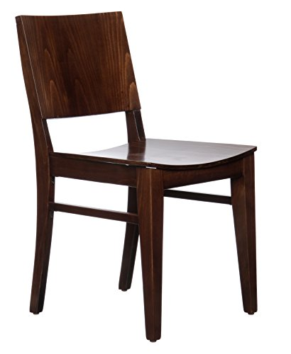 Beechwood Mountain BSD-83S-W Solid Beech Wood Side Chairs in Walnut for Kitchen and dining, set of 2