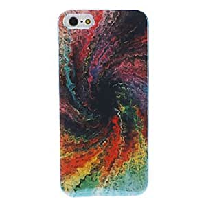 YULIN Colorful Vortex Pattern Vacuum Coating PC Hard Case with Transparent Frame for iPhone 5/5S