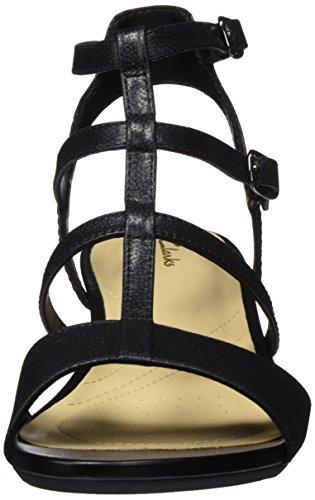 Sandalias Spice para Clarks Gladiador de Negro Nubuck Black Parram Mujer X77qwx5Er