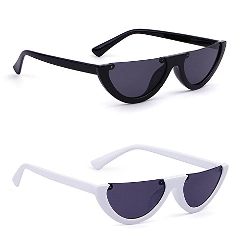 ADEWU demi-lunettes de soleil Cat Eye Eyewear Vintage Mod Retro Clout lunettes femmes 0MOVzqYbq