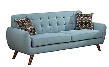 Major-Q Pxf6914 Modern Tufted Laguna Green Finish 2-Pcs Set with Love Seat and Sofa