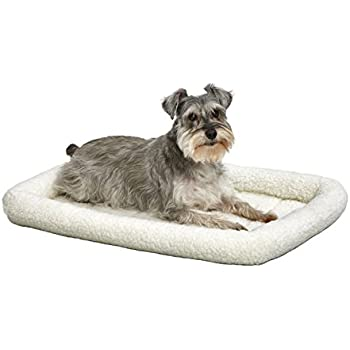 Amazon.com : 30L-Inch White Fleece Dog Bed or Cat Bed w