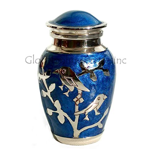 Home Decors Blessing Silver Birds Small Keepsake Urn, Cremation Urns for Ashes