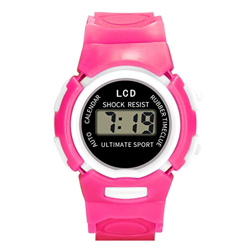 Electronic Watch for Kids, Yezijin Children Girls Analog Digital Sport LED Electronic Waterproof Wrist Watch New Under 10 Dollars