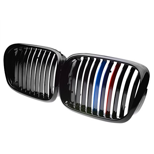 Price comparison product image Front Black M-color Wide Kidney Grille Grill For BMW E39 1997-2003