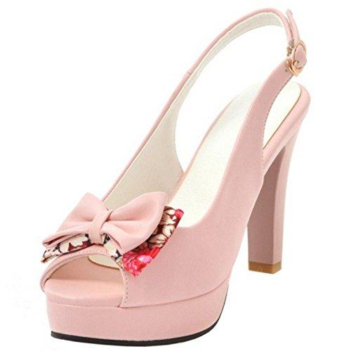 Mode Femmes pink 1 Zanpa Plateforme Sandales vmwnyN80OP