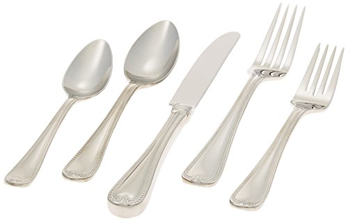 Fine Stainless Flatware Place - Lenox Vintage Jewel Stainless Flatware 5 Piece Place Setting