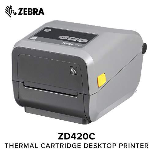 Zebra - ZD420c Ribbon Cartridge Desktop Printer for Labels and Barcodes - Print Width 4 in - 203 dpi - Interface: Bluetooth LE, USB - ZD42042-C01M00EZ