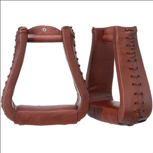 Oversized Leather Stirrups Medium Oil (Saddle Stirrups)