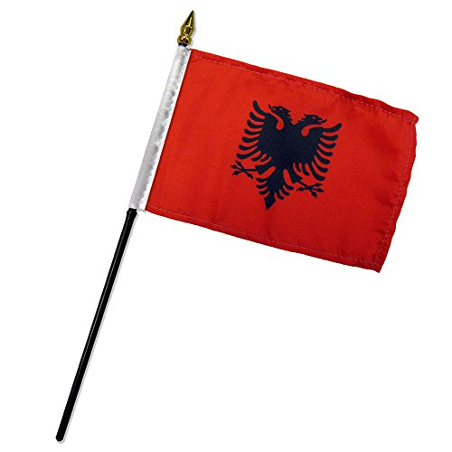 Quality Standard Flags One Dozen Albania Stick