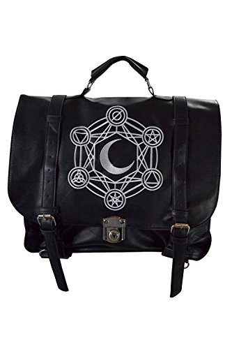 (Restyle Gypsy Gothic Dark Magic Witchcraft Moon Messenger Expandable 3 Way Bag)