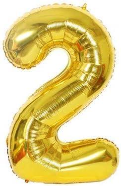 2歳 お誕生日 数字バルーン 誕生日 大きい 風船 ナンバー 40インチ バースデー 赤ちゃん パーティー飾りに(2)
