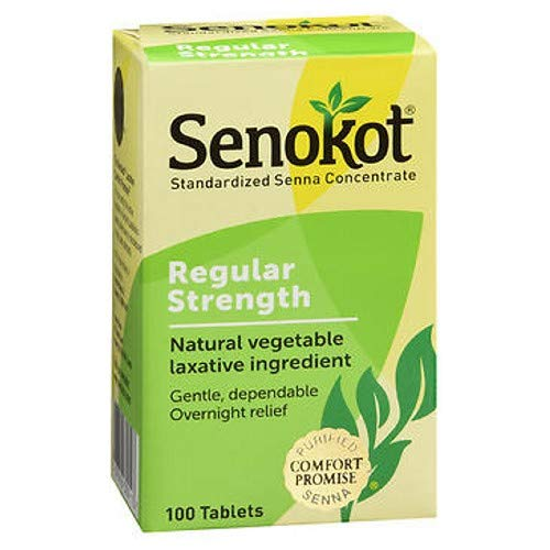 - Senokot-Natural Vegetable Laxative Ingredient, 100 Tablets (2 Pack)