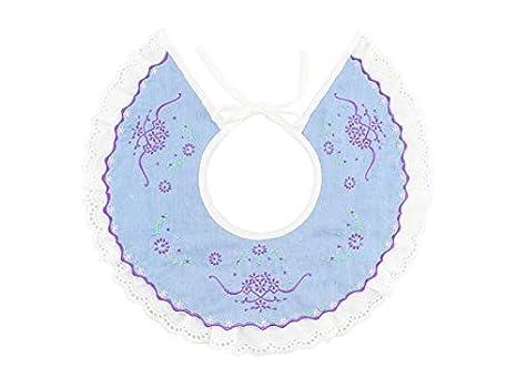 Babero infantil Toalla bebé babero bordado toalla Babero babero babero para niños de 0 a 3 años (azul) Delantal de bebé: Amazon.es: Bebé