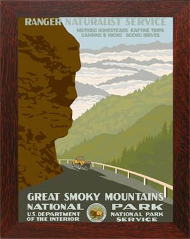 Great Smoky Mountains Park Framed Poster