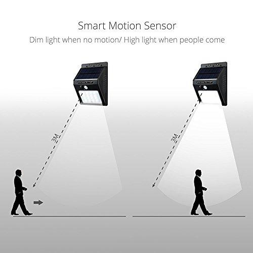 VicTsing 16 LEDs Luz Solar con Sensor de Movimiento Focos para Pared Exterior, Iluminación y Seguridad de exterior, 1 Pack: Amazon.es: Iluminación