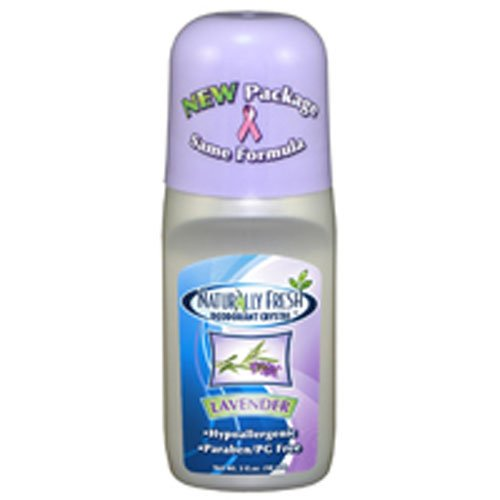 Naturally Fresh Deodorant, Roll On, Lavender, 3-Ounce Bottles (Pack of