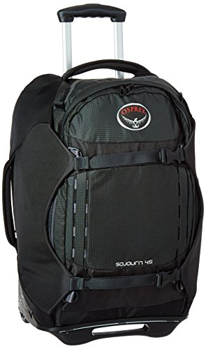 Osprey Packs Sojourn Wheeled Luggage, Flash Black, 45 L/22