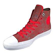 Converse Chuck Taylor II All Star Hi Top Sneaker Reflective Signal Red