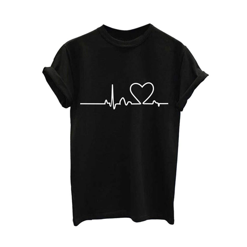 OrchidAmor Women's T-Shirt, Comfy Women Girls Plus Size Cotton Casual Tees Short Sleeve Animal Print Blouse Tops T-Shirt