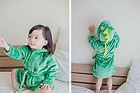 Cute Hooded Animal Plush Bathrobe Warm Cartoon Terry Pajamas Sleepwear for Baby Girl Boy