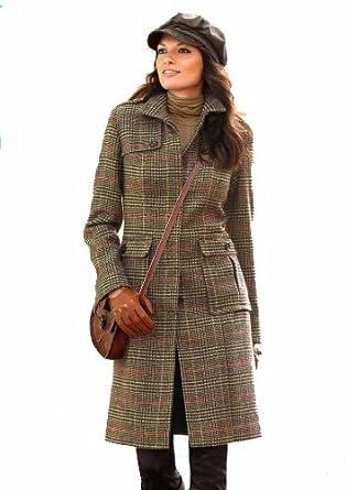 38 Damen Kariert Größe Wollmantel Mantel Aniston Braun Cp0xwZfRxq
