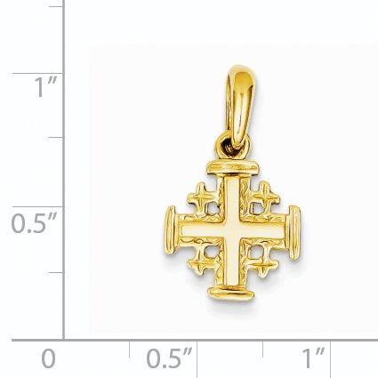Roy Rose Jewelry 14K Yellow Gold Jerusalem Cross Charm by Roy Rose Jewelry (Image #2)