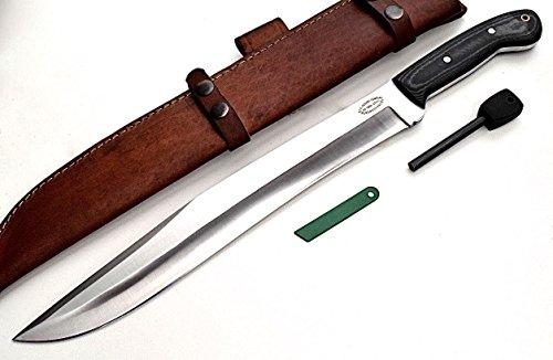 CFK Cutlery Company IPAK USA - Trail BOSS V - Custom Handmade D2 Tool Steel Micarta 18