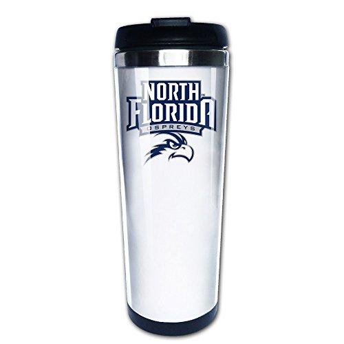 [VADMO NCAA University Of North Florida Ospreys Logo Coffee Cup Black] (Wigs Au)